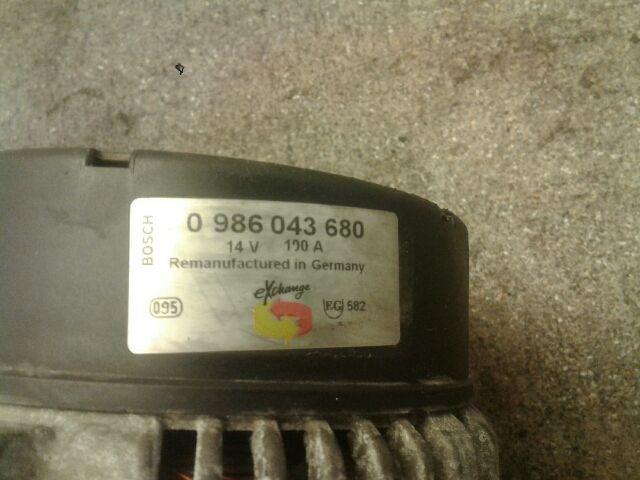 Használt 0986043680 Generátor Alkatrész