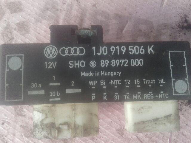 Használt 1J0919506Q Ventilátor vezérlő elektronika Alkatrész