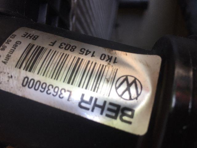 Használt 1K0145803F Intercooler / Töltőlevegőhűtő Alkatrész