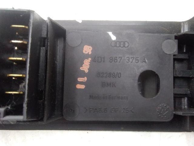 Használt 4D1867375A Bal első ülésállító kapcsoló Alkatrész