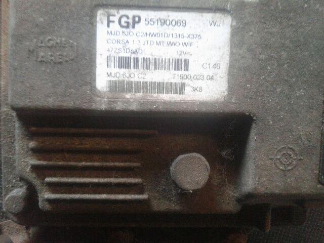 Használt 55190069 Motorvezérlő egység / ECU / PCM modul Alkatrész