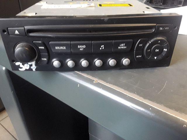 Használt 9659139977 Autórádió / CD fejegység / Hifi audio / Kezelőegység Alkatrész