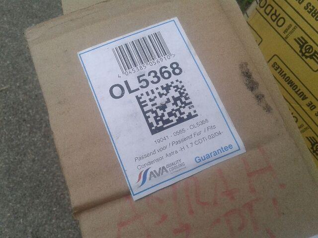 Használt OL5368 Klímahűtő radiátor Alkatrész