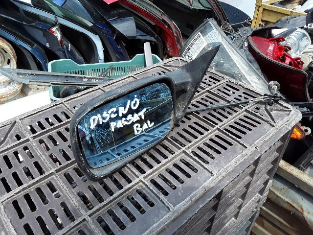 Használt VW PASSAT B3 B4 Bal Visszapillantó tükör Mechanikus Alkatrész
